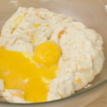adding egg yolks