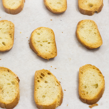 french baguette crostini
