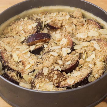 plums with streusel
