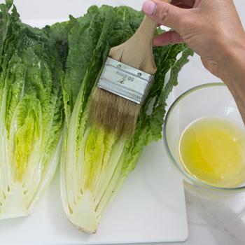 margarine on lettuce