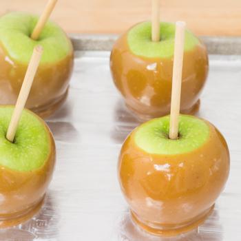 apples dipped in caramel