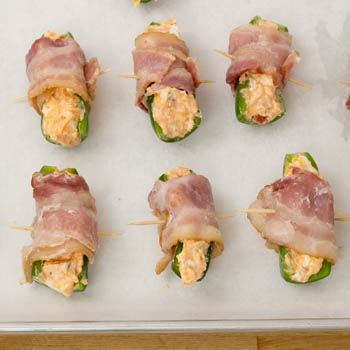 jalapenos wrapped with bacon