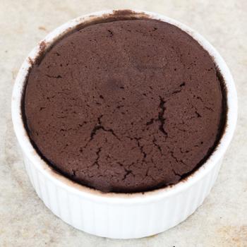 molten cake in ramekin