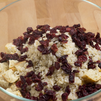 rice, cranberries and bread