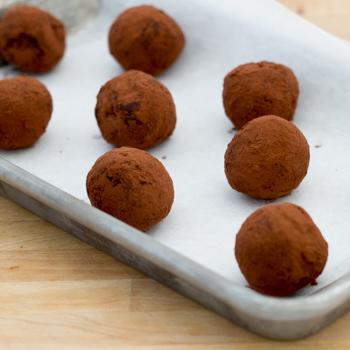 truffle on a baking sheet