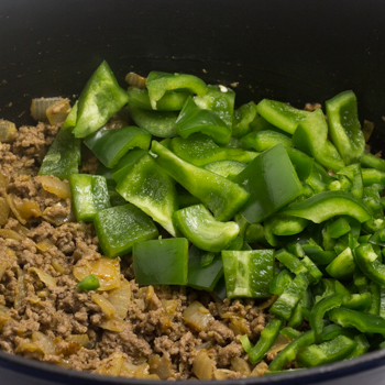 ground beef and green peppers
