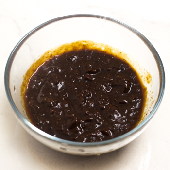 ancho chilies blended up