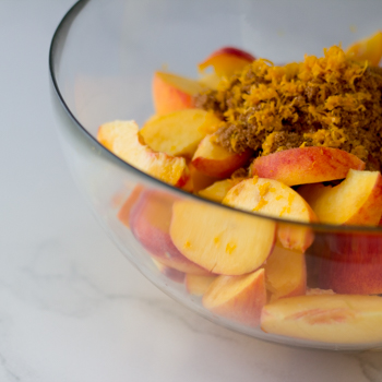 peach cobbler how to-
